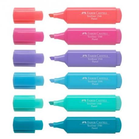 Fluorescente FABER CASTELL Textliner colores pastel