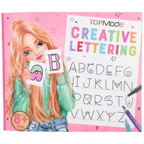 Cuaderno de lettering creativo de Top Model