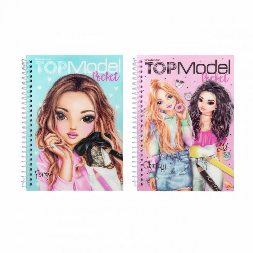 Cuaderno colorear Top Model 3D