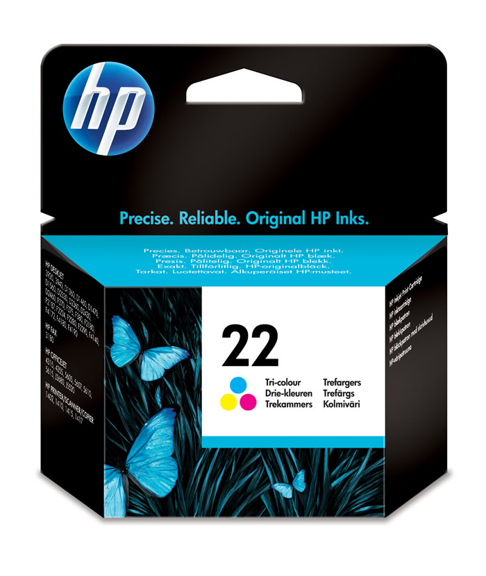 Cartucho de tinta original HP 22 tri-color